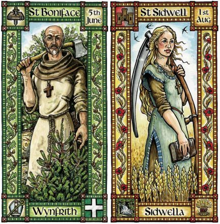 St Boniface & St Sidwell cards