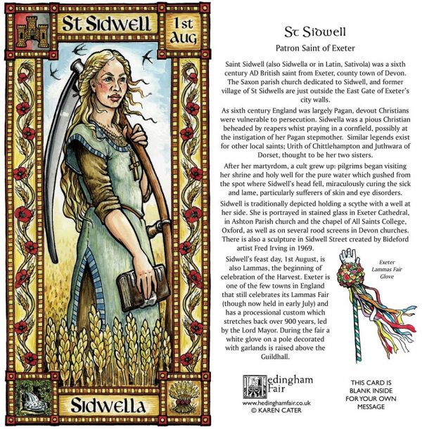 St Sidwell card